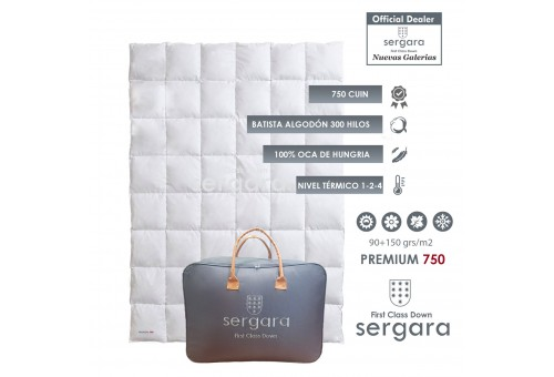 Sergara Premium 750 Fill Power All Seasons Down Comforter