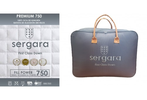 Couette 4 Saisons Premium 750 100% Duvet D'oie | Sergara