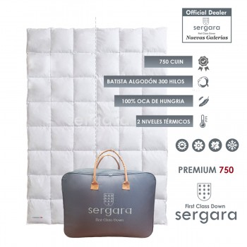 Sergara Premium 750 Fill Power Dual Warmth Down Comforter
