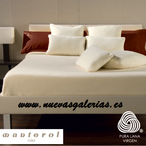 Manterol Couverture en laine Manterol | Opera - 1 Manta de lana Manterol | Opera-Manta 100% Pura Lana Virgen merino 575gr/m2