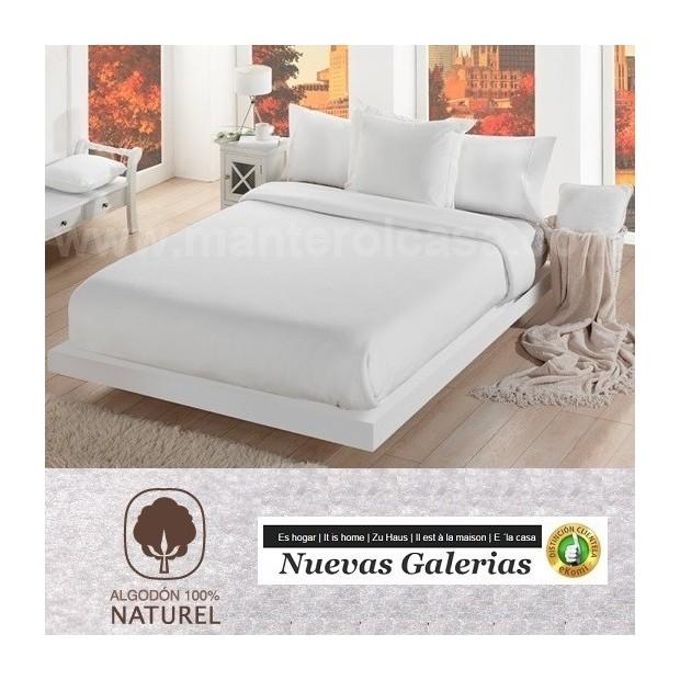 Manterol Couverture en Coton Manterol | Cotone Blanc - 1 Manta Algodon Entretiempo Manterol | Cotone Blanca-Manta fina de entr