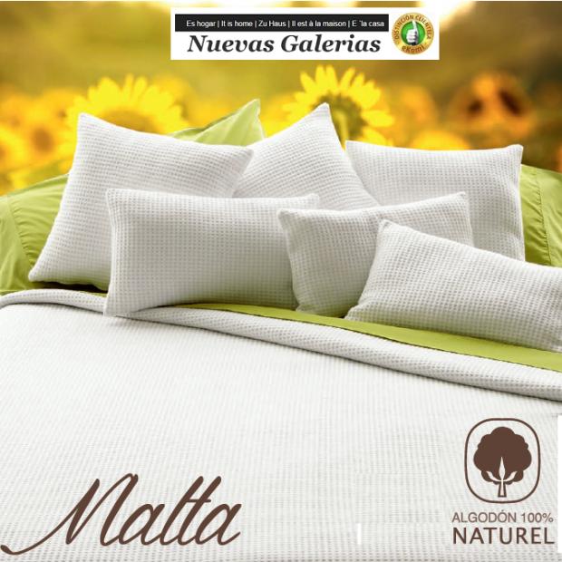 Manterol Baumwolldecke Manterol | Malta weiß - 1 Manterol Baumwolldecke Manterol | Malta White - Dünne Halbzeitdecke aus 100% na