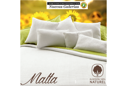 Coperta di Cotone Manterol | Malta bianco