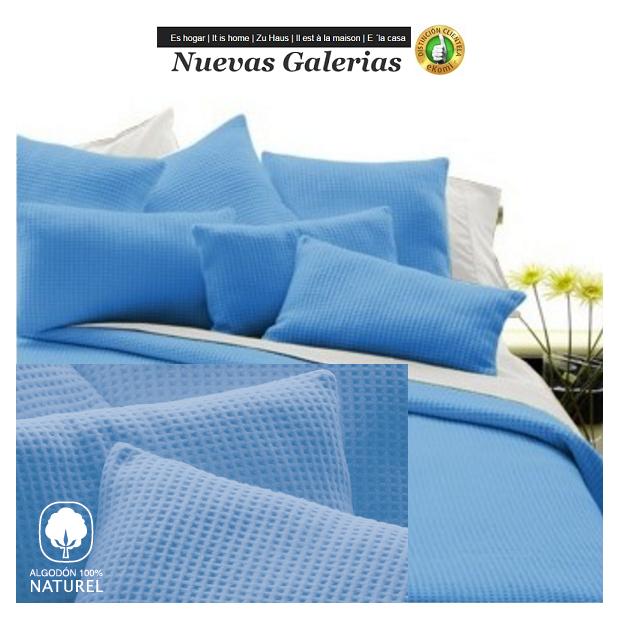 Manterol Coperta di Cotone Manterol | Malta Blu - 1 Manterol Cotton Blanket Manterol | Malta Blu - Sottile coperta per la mezza