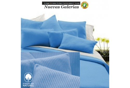 Baumwolldecke Manterol | Malta Blau