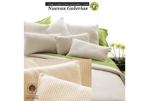 Manterol Coperta di Cotone Manterol | Malta Beig - 1 Manterol Cotton Blanket Manterol | Malta Beig - Sottile coperta per la mezz