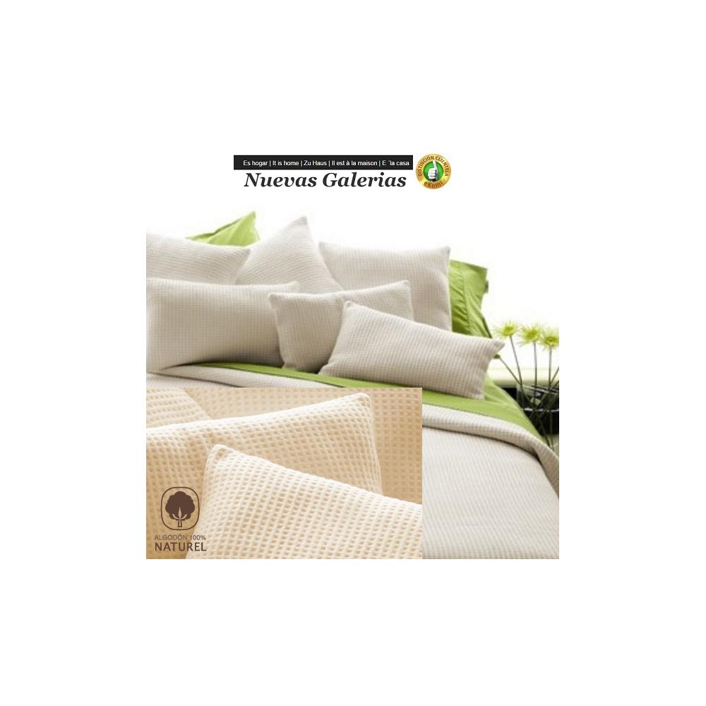 couverture en coton manterol malta beig nuevas galerias. Black Bedroom Furniture Sets. Home Design Ideas