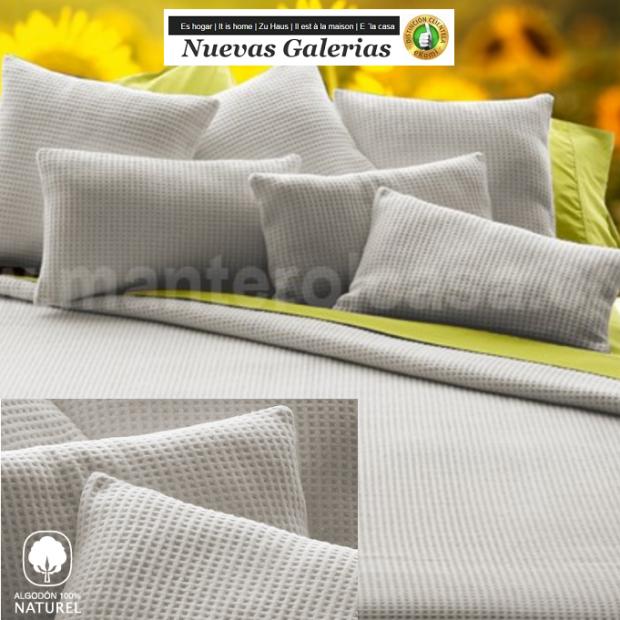 Manterol Manterol Cotton Blanket | Malta Gray - 1 Manterol Cotton Blanket Manterol | Malta Gray - Thin demi-season blanket made