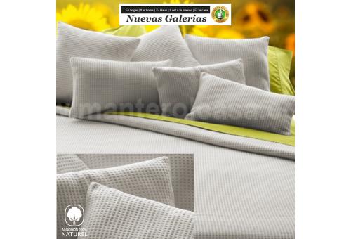 Manterol Baumwolldecke Manterol | Malta Grau - 1 Manterol Baumwolldecke Manterol | Malta Grey - Dünne Halbzeitdecke aus 100% nat