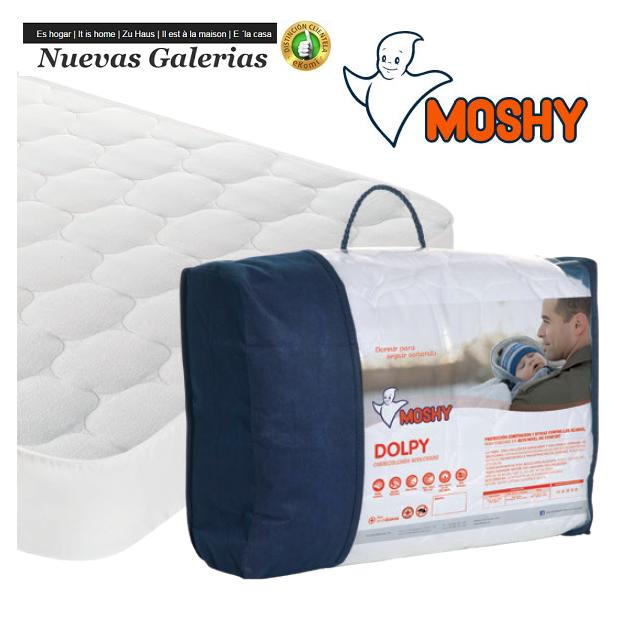 Moshy Moshy Gesteppter Matratzenschutz Wendbar   Dolpy - 1 Matratze reversible Dolpy   Moshy 100% Baumwolle, Sommer-Winter-Curl