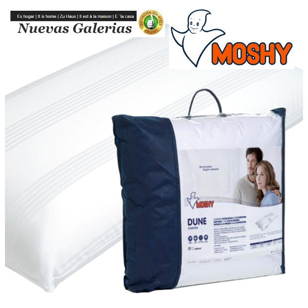 Moshy Cuscino viscoelastico | Moshy Dune - 1 Moshy Dune Viscolastic Pillow Custodia a doppio cuscino con tessuto Saten 100% coto