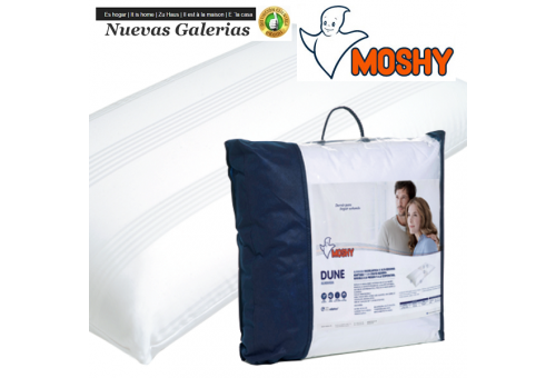 Moshy Memory Foam Pillow | Moshy Dune - 1 Moshy Dune Viscolastic Pillow Double-pillow case with Saten fabric 100% fresh cotton a
