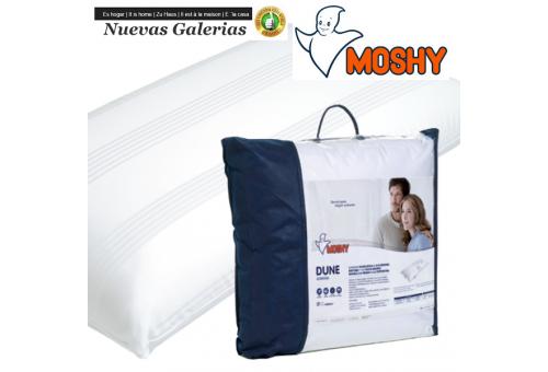 Moshy Oreiller Viscoélastique | Moshy Dune - 1 Almohada Viscolastica Dune de Moshy Almohada de doble funda con tejidoSate?n lis