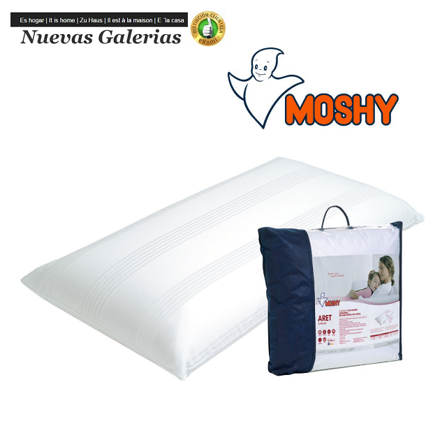 Moshy Lyocell-Ergotex® Fiber Pillow | Moshy Aret - 1 Aret pillow | Moshy Lyocell and ergotex fibers, to obtain a pillow whose op