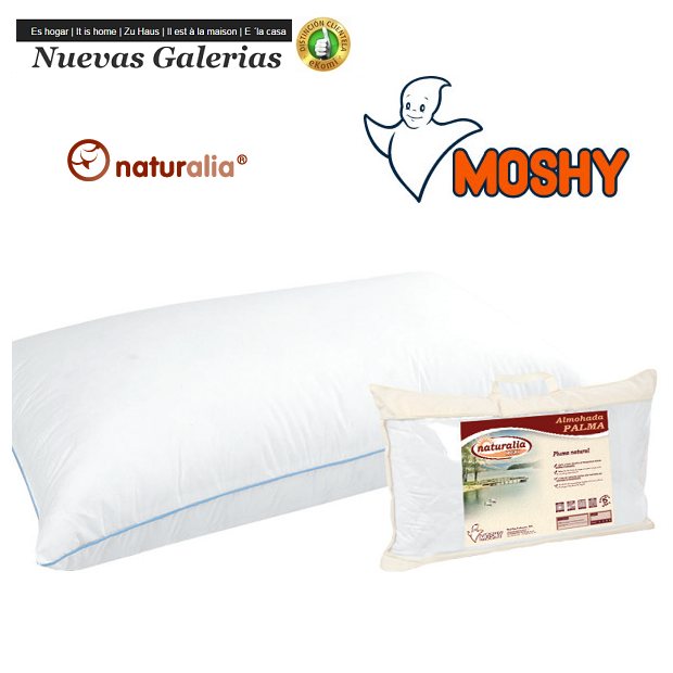 Moshy Palma Down Pillow | Moshy - 1 Pillow Palm 96% Plumon | Moshy Natural down pillow. Poly-cotton microfiber fabric with a ve
