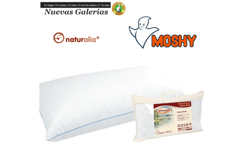 Moshy Palma Down Pillow | Moshy - 1 Pillow Palm 96% Plumon | Moshy Natural down pillow. Poly-cotton microfiber fabric with a ve