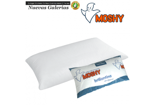 Moshy Cuscino Fibra di Helicoitex® | Moshy Brillantina - 1 Cuscino lucido | Moshy Feather Touch. L'inconfondibile guanciale Bril