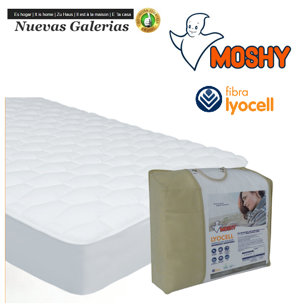 Moshy Lyocell Reversible quilted mattress protector | Moshy - 1 Reversible mattress pad Lyocell | Moshy 100% sanforized cotton D
