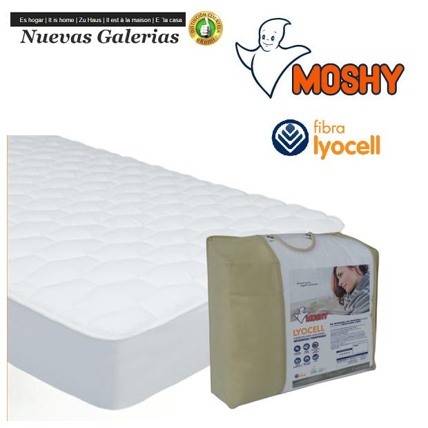 Moshy Moshy Gesteppter Matratzenschutz Wendbar   Lyocell - 1 Wendbare Matratzenauflage Lyocell   Moshy 100% sanforisierte Baumwo