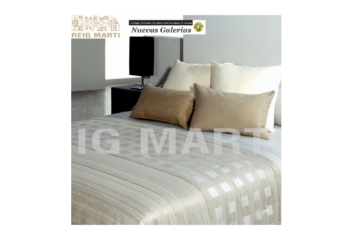 Reig Marti Quilt Reig Marti | Tomeo Beig - 1 Tomeo Quilt in Beig color, from the 3B range by Reig Martí. Quilt made of jacquard
