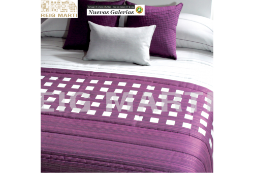 Reig Marti Quilt Reig Marti | Tomeo purple - 1 Tomeo quilt in purple, from the range 3B by Reig Martí. Quilt made of jacquard fa