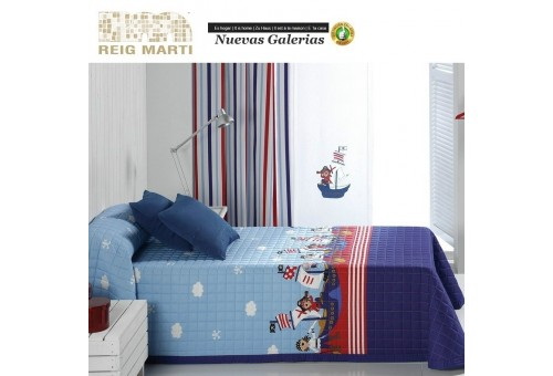 Reig Marti Reig Marti Kids Bouti Bedspred | Piratas - 1 Pirate children's bouti bedspread, by Reig Martí. This bouti bedspread i