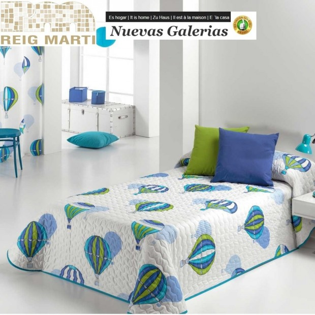 Reig Marti Reig Marti Kids Bouti Bedspred   Ballon - 1 Balloon children's bouti bedspread by Reig Martí. This bouti bedspread is