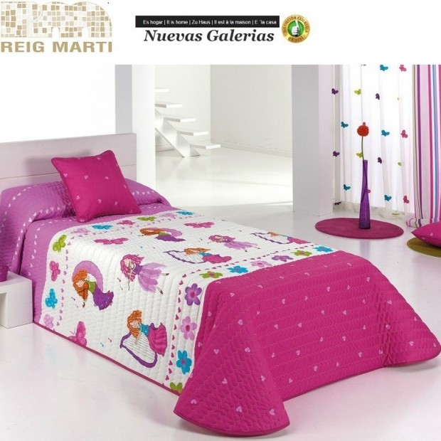 Reig Marti Reig Marti Kids Bouti Bedspred | Candy - 1 Baby bouti quilt model Candy, by Reig Martí. This bouti bedspread is ideal