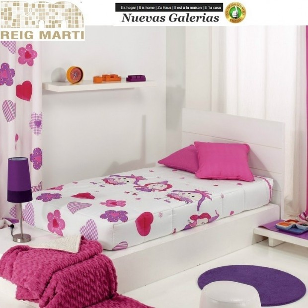 Reig Marti Reig Marti Kids Fitted comforter | Wendy - 1 Adjustable quilt at the corners, model Wendy, by Reig Martí. ideal for t