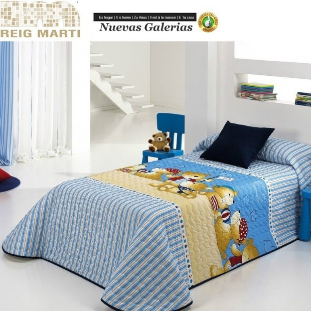Reig Marti Reig Marti Kids Bouti Bedspred | Teddy - 1 Child bouti bedspread model Teddy, by Reig Martí. This bouti bedspread is