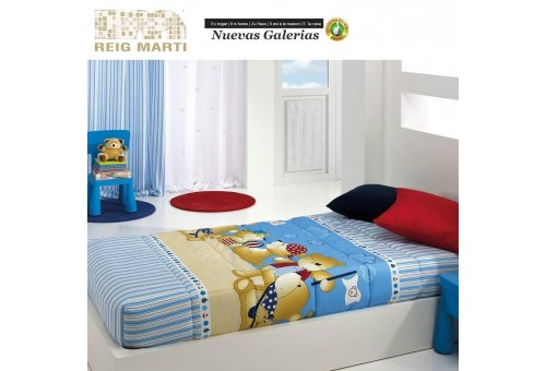 Reig Marti Reig Marti Kids Fitted comforter | Teddy - 1 Adjustable quilt at the corners, model Teddy, by Reig Martí. ideal for t