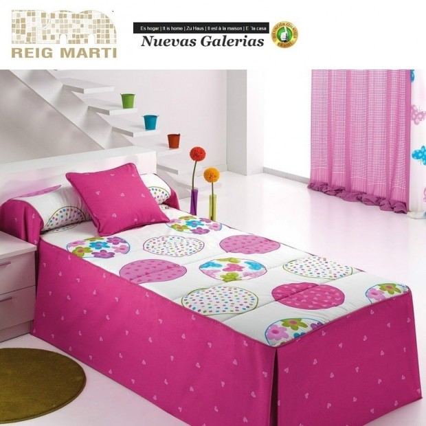 Reig Marti Reig Marti Kids Bedspread Quilt   Candycor - 1 Quilt comforter child model Candycor, by Reig Martí. A classic touch i