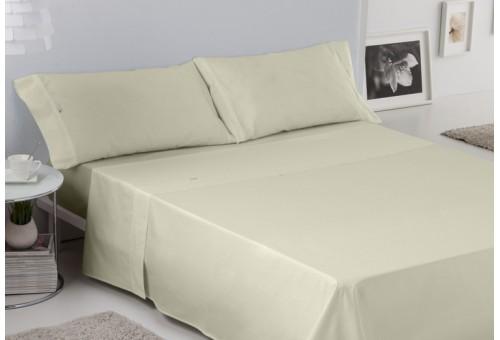 Juego de sábanas LISO BIÉS. 100% algodón (200 hilos). Es-Tela 255-MARFIL