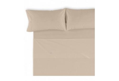 Juego de sábanas LISO BIÉS. 100% algodón (200 hilos). Es-Tela 138-PIEDRA