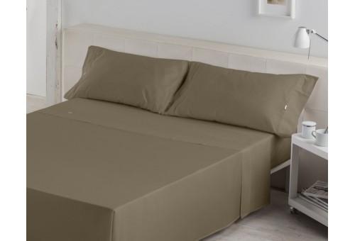 Juego de sábanas LISO BIÉS. 100% algodón (200 hilos). Es-Tela 253-VISON
