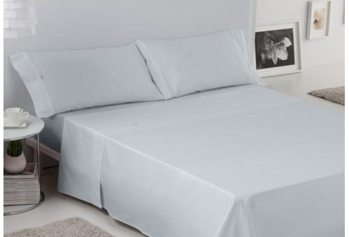 Juego de sábanas LISO BIÉS. 100% algodón (200 hilos). Es-Tela 024-PERLA