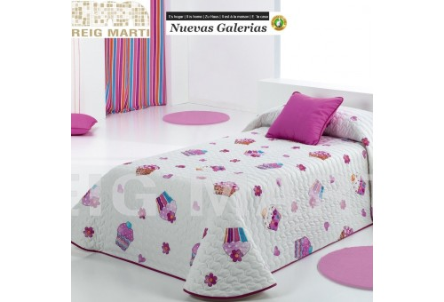 Reig Marti Reig Marti Kids Bouti Bedspred | Cupcake - 1 Quilt bouti child model Cupcake, by Reig Martí. This bouti bedspread is