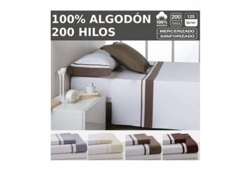 Juego de sábanas MARBELLA. 100% algodón 200 hilos TTC