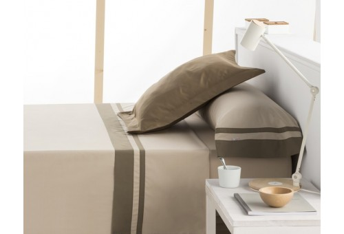 Juego de sábanas MARBELLA. 100% algodón (200 hilos). Es-Tela 309-PIEDRA-VISON