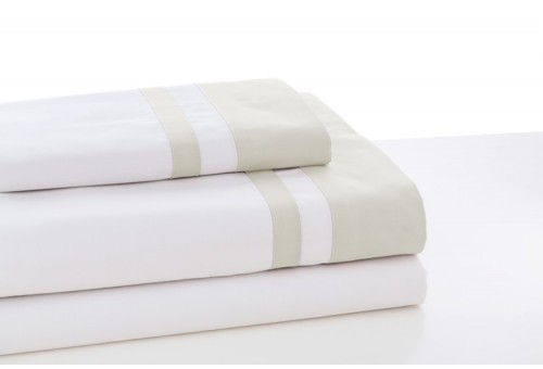 Juego de sábanas MARBELLA. 100% algodón (200 hilos). Es-Tela 317-BLANCO-HUESO