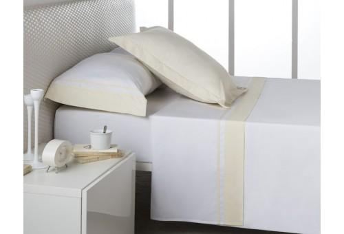Juego de sábanas MARBELLA. 100% algodón (200 hilos). Es-Tela 255-MARFIL