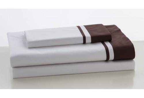 Juego de sábanas MARBELLA. 100% algodón (200 hilos). Es-Tela 179-CHOCOLATE