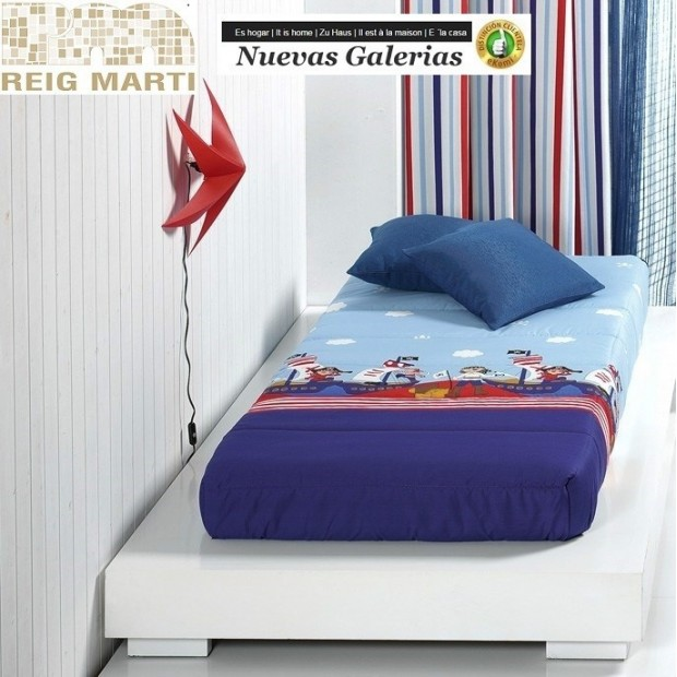 Reig Marti Reig Marti Kids Fitted comforter   Piratas - 1 Adjustable quilt in the corners, model Piratas, by Reig Martí. ideal f
