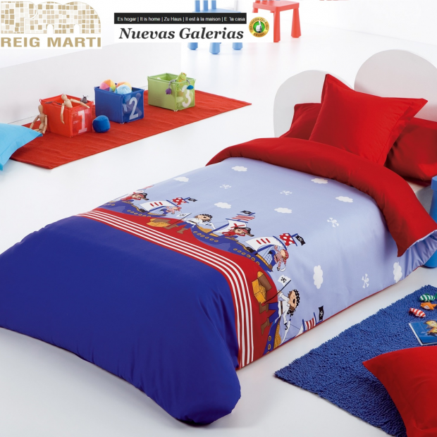 Reig Marti Reig Marti Kids Duvet Cover | Piratas - 1 Children's Nordic Pirates of Reig Mart. Composed of 3/4 pieces (bag, adjust