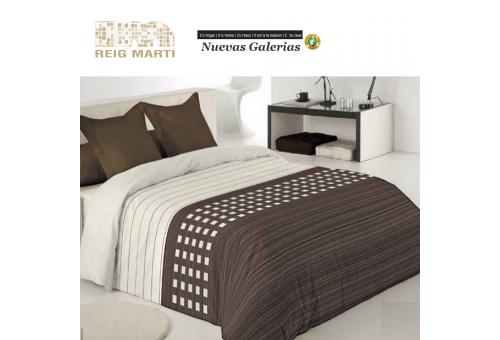 Reig Marti Copripiumino Reig Marti | Tomeo Marrone - 1 Copripiumino Tomeo in marrone, di Reig Martí. Composto da 3/4 pezzi (bors