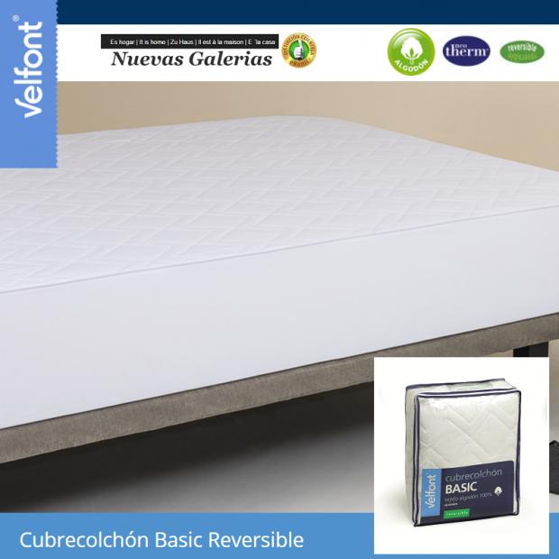 Velfont Cubrecolchón Reversible 100% algodon - 1 Cubrecolchón Reversible 100% algodon | VelfontEl Cubrecolchón Basic de Velfon