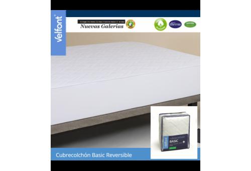 Velfont Velfont Gesteppter Matratzenschutz Wendbar | Basic - 1 Wendbare Matratzenauflage aus 100% Baumwolle | Velfont Der Velfon