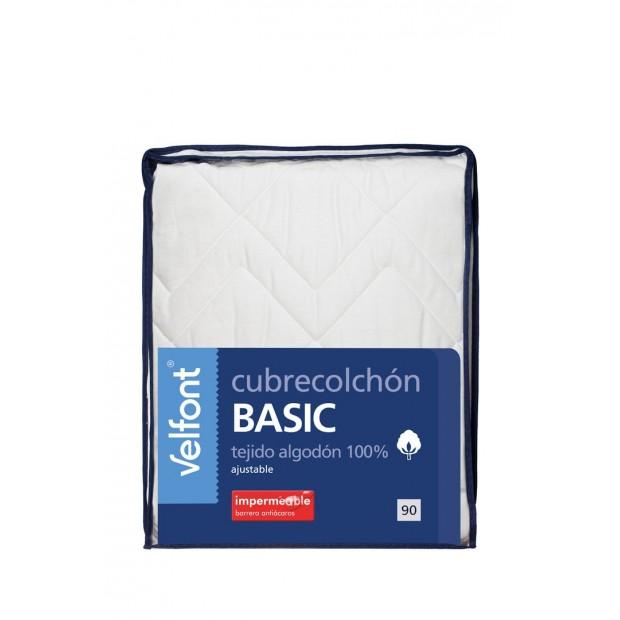 Velfont Velfont Gesteppter Matratzenschutz Wasserdicht | Basic - 1 Matratzenbezug 100% wasserdichte Baumwolle | Velfont Der Matr