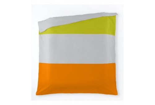 Funda nórdica Tricolor. Es-Tela 236-PISTACHO-PERLA-NARANJA