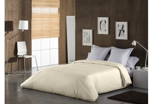 Funda nórdica COMBI LISOS. 100% algodón (144 hilos) 021-CREMA